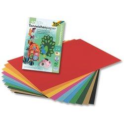 Tonpapier 130g A4 100Bl 10 Farben sortiert