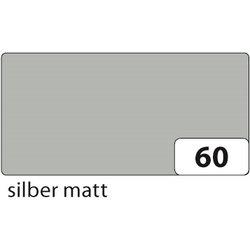 Einzelblatt-EAN Tonpapier Folia 6760E 130g 50x70cm silber matt