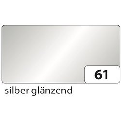 Tonpapier 130g 50x70cm 10Bg silber glänzend