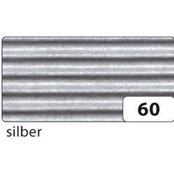 Wellpappe 50x70cm 10Bg silber