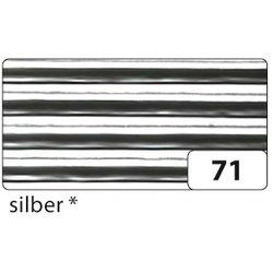 Wellpappe 50x70cm 10Bg silber metallic