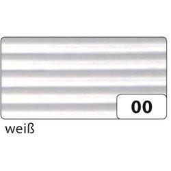 Wellpappe gerollt 50x70cm weiß