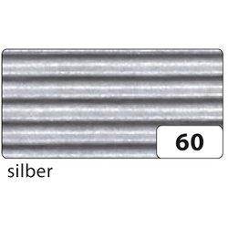 Wellpappe gerollt 50x70cm silber