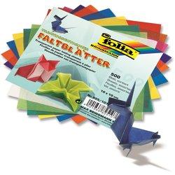 Transparentpapier Faltblatt 42g 10x10cm 500Bl sortiert