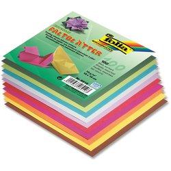 Faltblatt 70g 15x15cm eckig 100Bl intensivfarbig sortiert