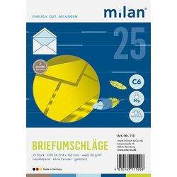 Briefumschlag DIN C6 weiß 25St