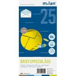 Briefumschlag DIN Lang weiß 25St