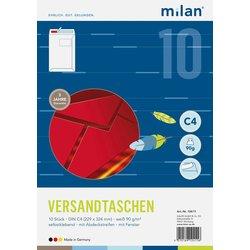 Fenster-Versandtasche Milan  DIN C4 weiß  90g/m² 10St