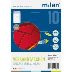 Fenster-Versandtasche Milan  DIN C5 weiß  90g/m² 10St