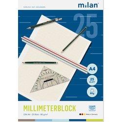 Millimeterblock Milan 240 A4 25Bl