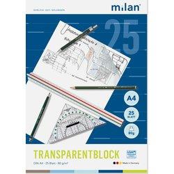 Transparentpapierblock Milan 244 A4 25Bl