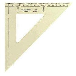 Zeichendreieck 45° 25 cm mm Teilung hochwertiger Kunststoff