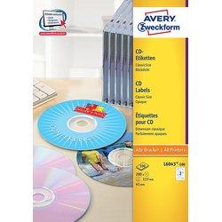 CD-Etiketten 117mm ClassicSize blickdicht weiß 100Bl=200St