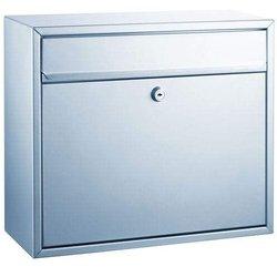 Briefkasten Stalhblech silber Größe: 360x310x150mm # 8601