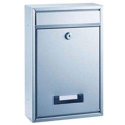 Briefkasten Alco 8602 Edelstahl 32x21,5x8,5cm silber