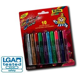 Klebestift Glitter Glue 10er Set