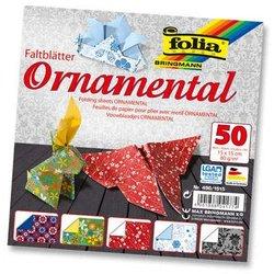 Faltblatt 80g Ornamental 15x15cm 50Bl 5 Motive sortiert