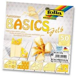 Faltblatt 80g Basics 15x15cm 50Bl 5 gelbe Motive