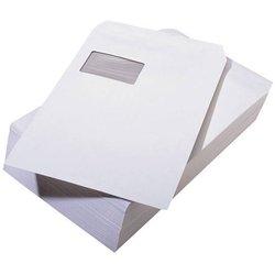 Versandtasche mit Fenster Büroring DIN C4 weiß  90g/m² 250St