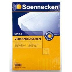 Versandtasche mit Fenster Büroring DIN C4 weiß  90g/m² 25St
