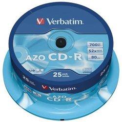 CD-Rohlinge 80 Min. 700MB 52-fach, 25-er Spindel