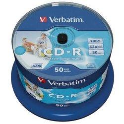 Rohling CD-R 80 Min. 700MB, 52-fach wide printable in 50-er Spindel