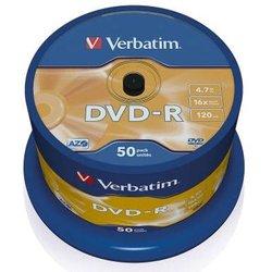 Rohling DVD-R 4,7 GB/120 Min. 16-fach, 50-er Spindel