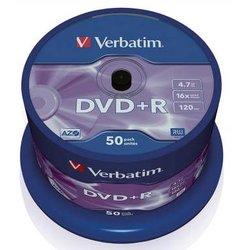 Rohling DVD+R 4,7 GB/120 Min. 16-fach, 50-er Spindel
