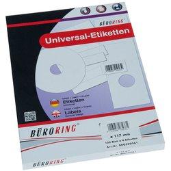 CD-Etiketten 117mm weiß 100Bl=200St