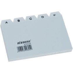 Leitkarten-Register Polypropylen A7 A-Z 25-teilig grau