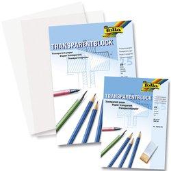 Transparentpapier A4 80g/qm 25 Blatt, Architektenpapier