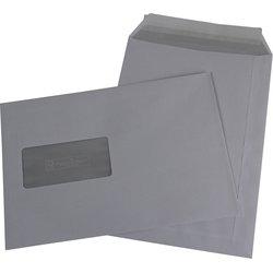 Versandtasche mit Fenster Büroring DIN C5 weiß  90g/m² 500St