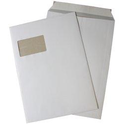 Papprückenwandtasche mit Fenster DIN C4 weiß 120g/m² 125St