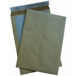 Papprückenwand-Tasche DIN B4 braun  110g/m² 125St
