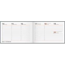 Rido Taschenkalender 1W/2S Septimus schwarz, 15,2x10,2cm