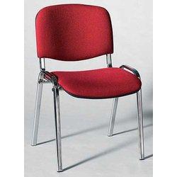Besucherstuhl mit Chromgestell bequem gepolstertete Sitz- und
