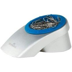 Briefklammerspender mit Magnet silber