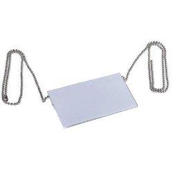 Namenschildkette 85cm 10St metallic silber