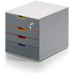 Schubladenbox Varicolor Safe 2+2 geschlossene Schübe abscließbar lichtgrau/bunt