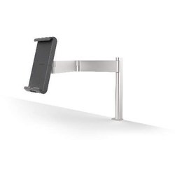 Tablet Holder Table Clamp, silber metal