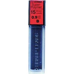 Feinminen Super-Polymer Härtegrad B 0,9mm 15 Minen passend für alle Druckbleistifte