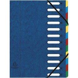 Ordnungsmappe Manilakarton 425g A4 12-teilig blau