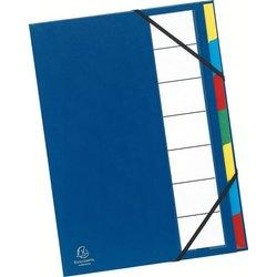 Ordnungsmappe Karton 250g A4 7-teilig blau