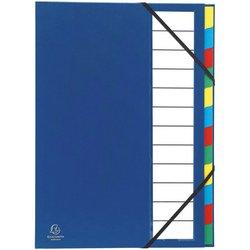 Ordnungsmappe Karton 250g A4 12-teilig blau