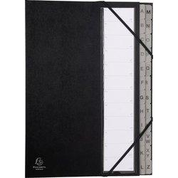 Ordnungsmappe Karton 220g A4 24-teilig schwarz