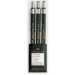 Druckbleistift-Etui TK-fine 3 Stück Härtegrad HB (Strichstäke 0,35/0,5/0,7mm) dunkelgrün
