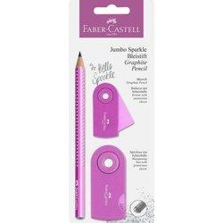 Bleistiftset Faber Castell 111677 Jumbo Sparkle pearl pink