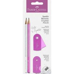 Schreibset Faber Castell 218477 Sparkle pearl pink/weiß BK