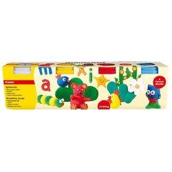 Spielknete in 4 Basisfarben