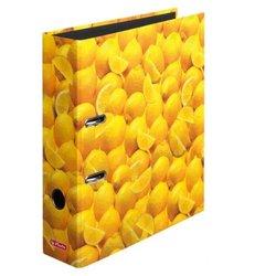 Motivordner A4 80mm Zitrone